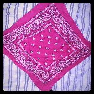 Pinkish bandana